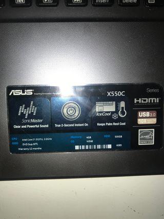 ASUS X550C CORE I7 LAPTOP