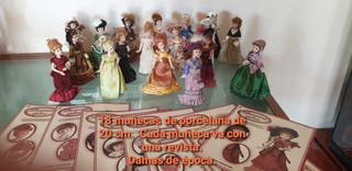 Muñecas porcelana damas época