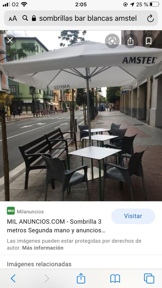 Sombrillas Bar Terraza