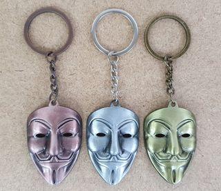 Pack de 12 llaveros V de Vendetta (Nuevos)