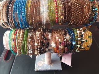 pulseras de cristal y minerales swarovski