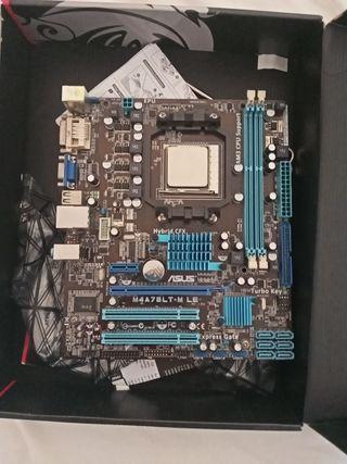 PLACA BASE AM3 + amd athlon 3nucleos 3 hilos
