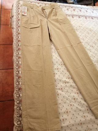 pantalón de hombre de pinzas