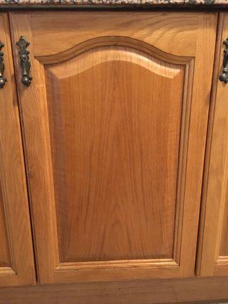 Puertas mueble cocina madera