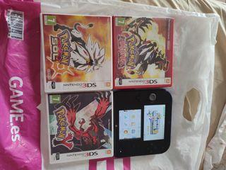 Nintendo 2ds con 4 juegos.