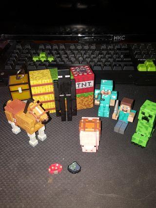 Conjunto de personajes juego minecraft