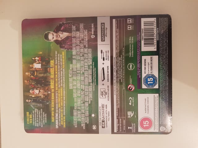 Suicide Squad 4K ULTRA HD Blu Ray STEELBOOK