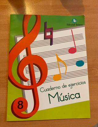 Cuaderno de ejercicios de Música número 8