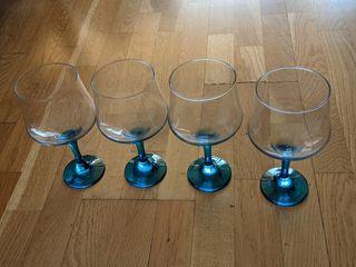 4 copas de Gin Tonic azules