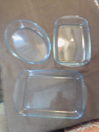 bandejas para horno de cristal