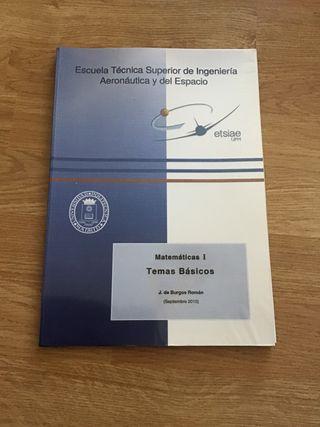 ETSIAE. UPM. Matemáticas I. Temas Básicos.