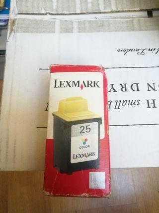 cartucho color lexmark 25
