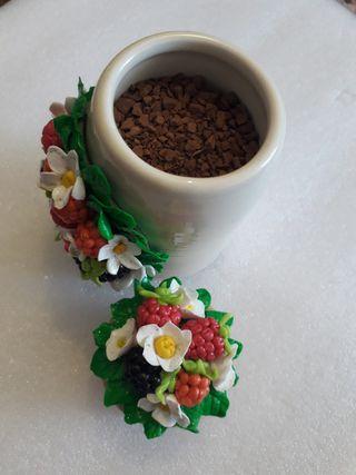 Beautiful Jars with Handmade Polymer Clay Decor