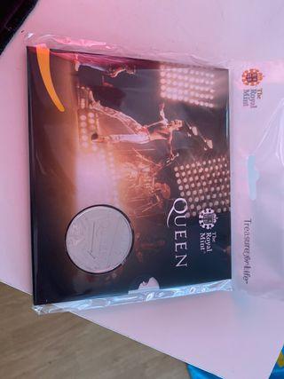 Moneda 5£ Queen edición limitada