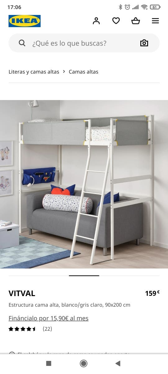 Estructura cama alta