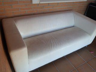 sofá polipiel blanco kipplan ikea