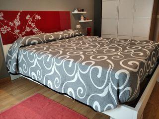 cama somier cabecero y colchón