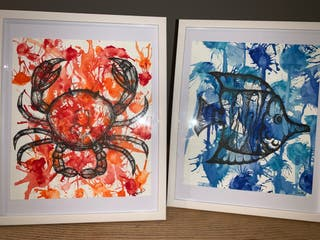 Trio of Framed Watercolour Drawings