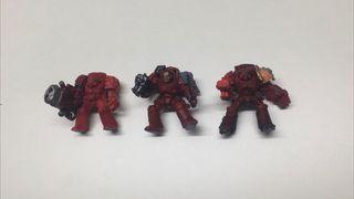 x3 exterminadores veteranos chusta warhammer 40k