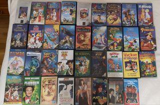 Películas VHS (2 eur cada una)
