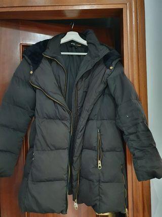 abrigo de plumas naturales mujer