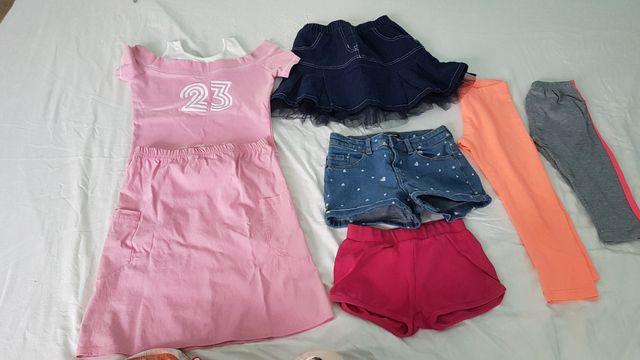 2 faldas, leggins, pantalón corto