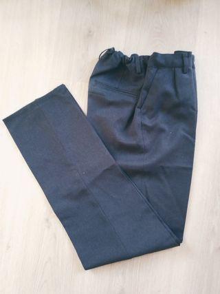 Pantalones uniforme NIÑO gris oscuro 12 14 años