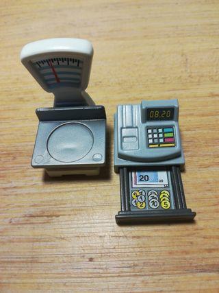 Playmobil caja registradora+balanza
