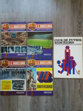 FC Barcelona revistas antiguas y Palau expositor