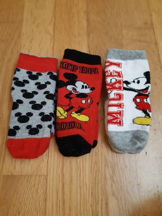 149. 3 pares calcetines Disney Mickey Mouse 19-22