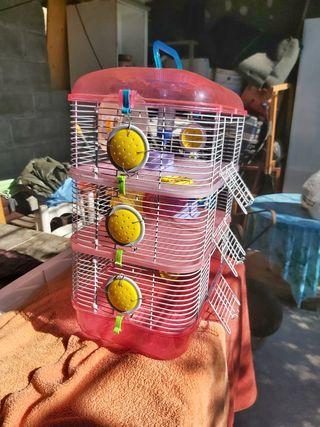 Jaula Hamster u otro animal de 3 pisos