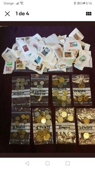 moneda y sellos lote