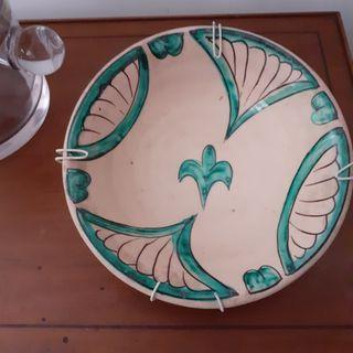 plato de cerámica vintage.