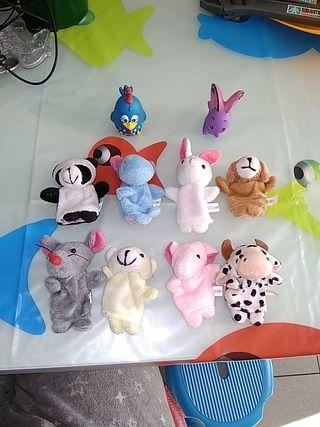 marionetas de dedo animales juguete cuentos