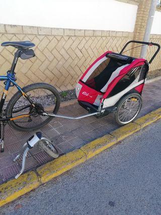 remolque de bicis para niños y carga