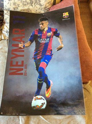 Póster plastificado Neymar