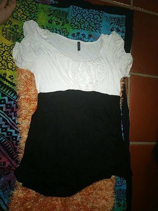 vestido corto blanco y negro fiesta