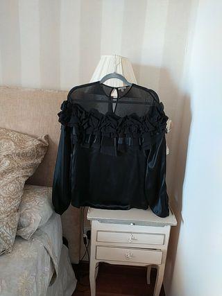 Blusa de seda de Uterque