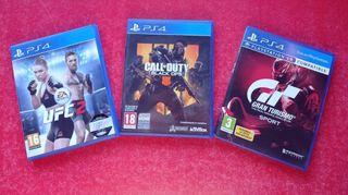 Pack 3 juegos Ps4