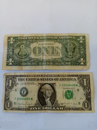 billetes de 1 Dollar americano 1988 A