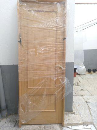 Puerta roble macizo