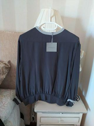 Blusa de seda Uterque