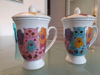 2 tazas para te - con gatitos