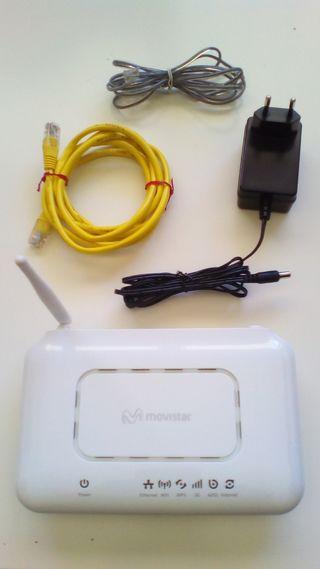 Router Wifi ZTE con accesorios