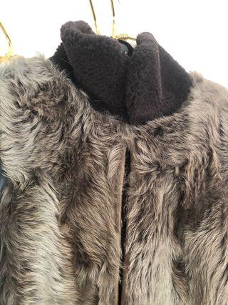 Abrigo de piel de cordero español
