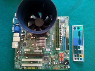 PLACA BASE DE ORDENADOR+PROCESADOR+MEMORIA RAM 2GB