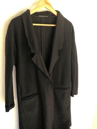 Abrigo fino de lana negro