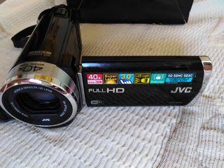 Video Cámara JVC con pantalla abatible.