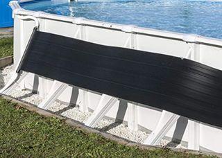 Dos calentadores solares GRE para piscina 15 m3