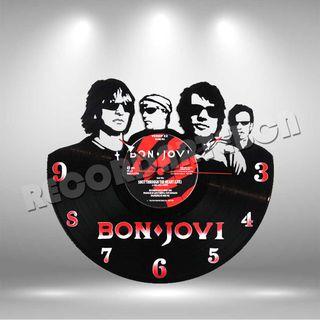 Reloj de Disco LP de Bon Jovi